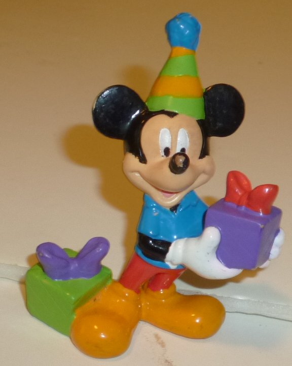 "MICKEY MOUSE party with presents PVC Figure 2.75"", Disney"