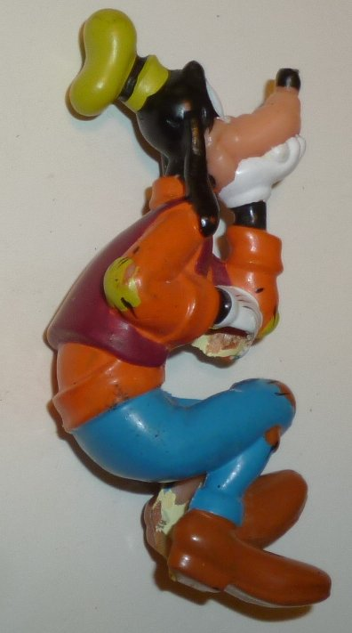 "GOOFY sitting PVC Figure pencil holder MISSING pencil 3"", Disney"