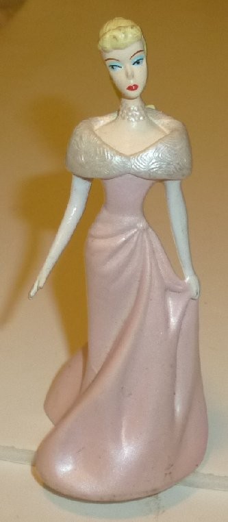 BARBIE PVC Figure EVENING ENCHANTED gown 1994 Mattel Enesco