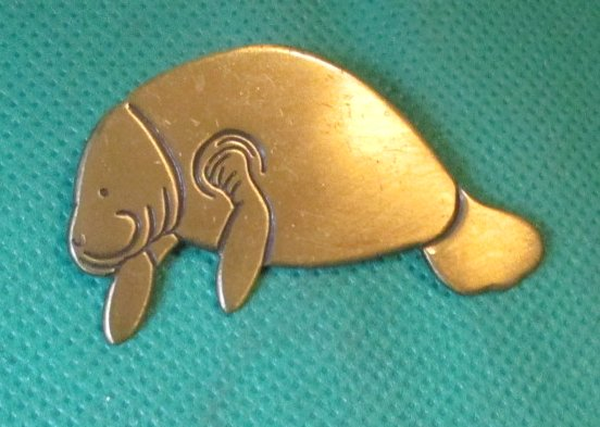 MANATEE sea cow lapel pin 2""