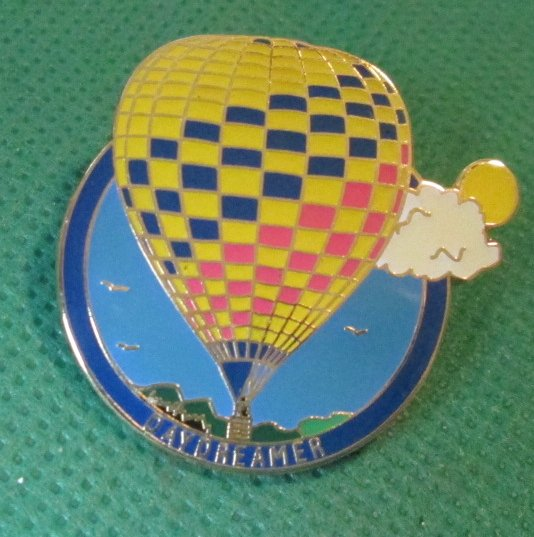 DAYDREAMER Hot Air Balloon pinback lapel PIN 1.25""
