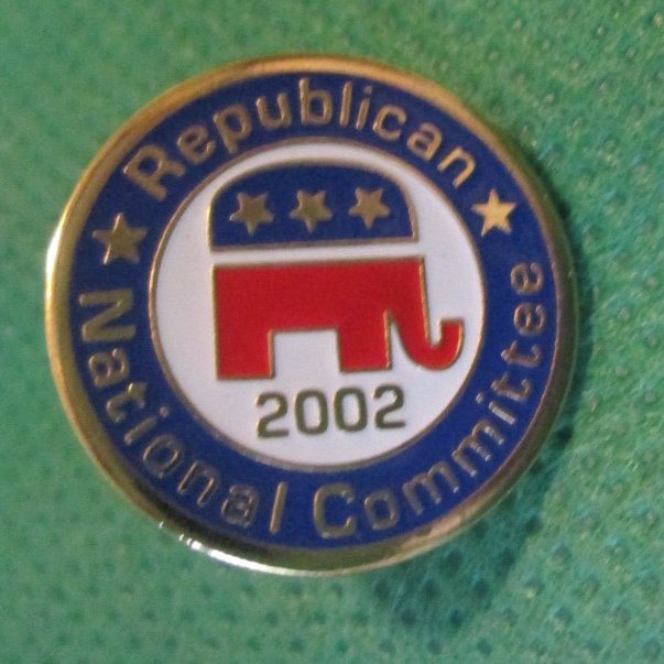 2002 RNC Republican National Committee elephant pinback PIN