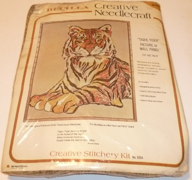 BUCILLA Needlecraft embroidery TIGER, TIGER kit MIP