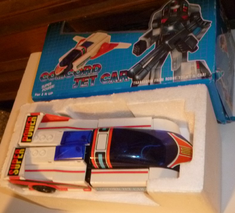 1985 Transformer CONCORD JET CAR in box