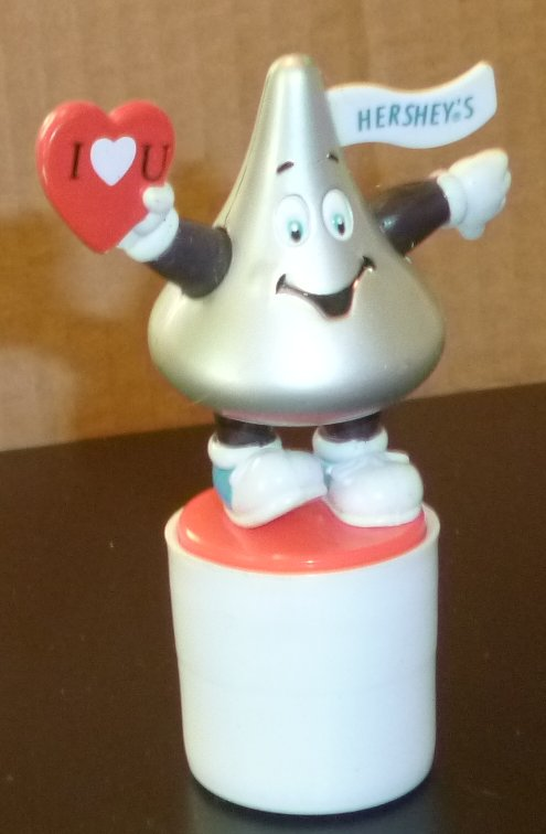 Valentine's Day Hershey KISSES topper figure toy 3.5""