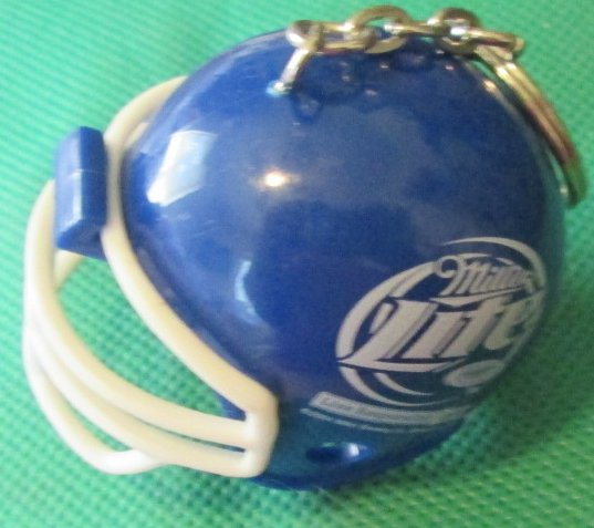 ESPN MILLER LITE blue football Helmet keyring key chain keychain - Click Image to Close