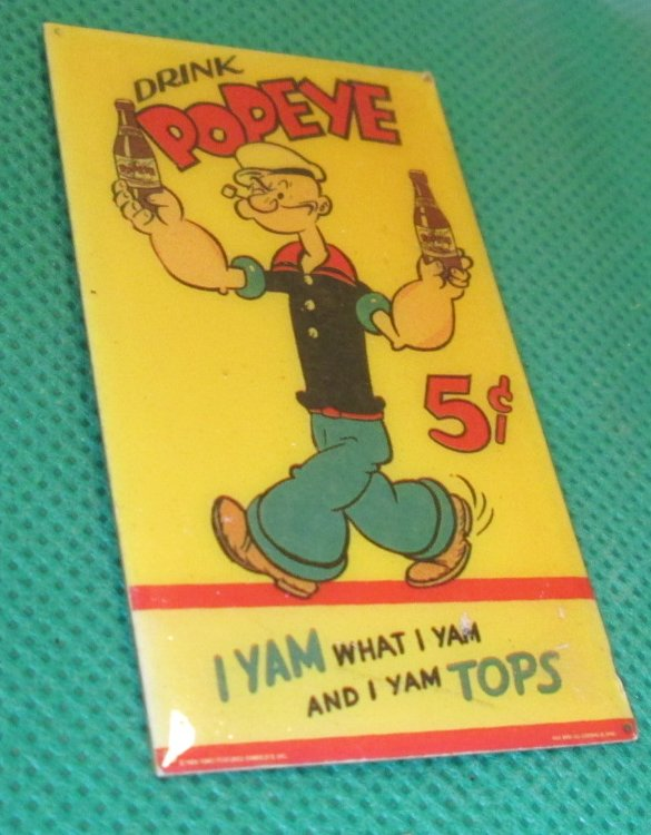 POPEYE The Sailor Man DRINK refrigerator frig MAGNET 2.5""