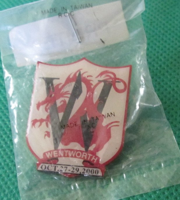 "WENTWORTH OCT 27-29, 2000 red dragon lapel PIN 1.25"", MIP"