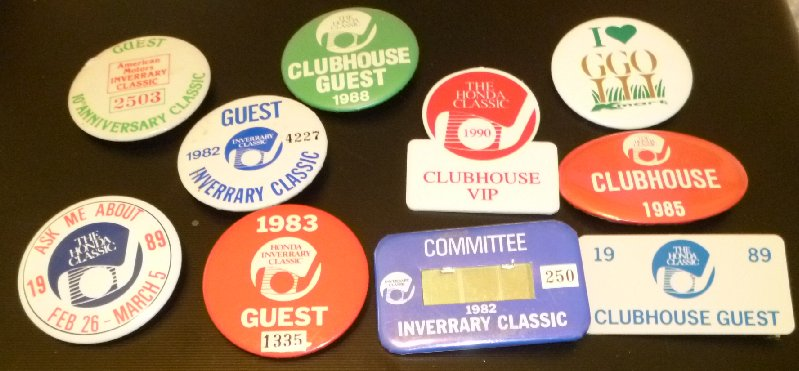 Lot 10 vtg most 80's 1982-90 GOLF Button pins INVERRARY HONDA