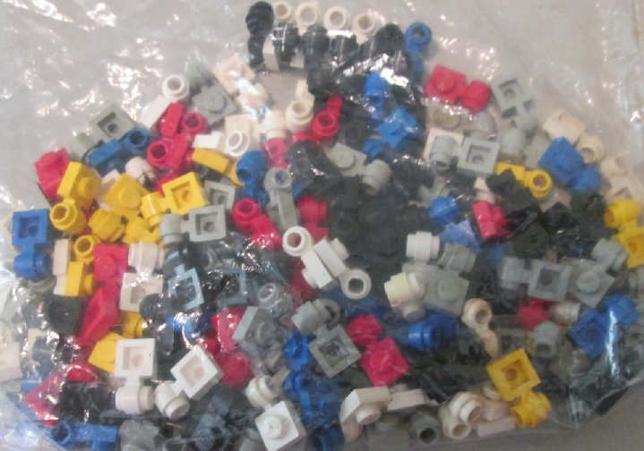 LEGO Parts Lot of 162 Plate 1 x 1 with Clip Light mixed colors