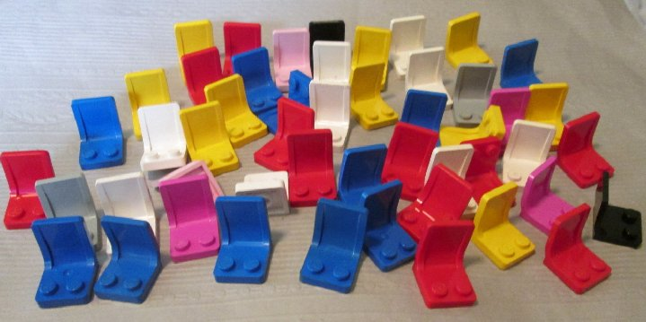 LEGO Parts Lot of 50 Minifig Seat 2 x 2 mixed colors