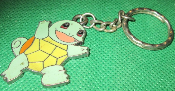1998 POKEMON Squirtle metal keyring key chain 2""