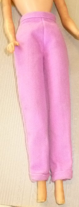 BARBIE Doll Clothing purple PANTS, no tag