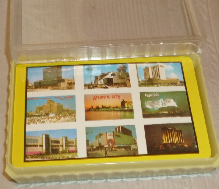 1 Deck vintage playing cards souvenir ATLANTIC CITY NJ Hotels