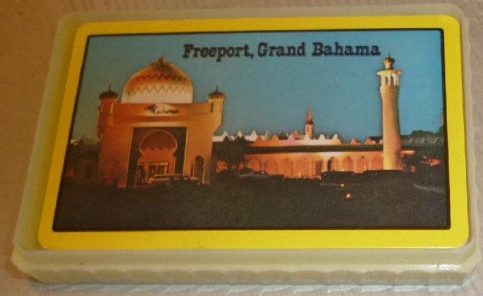 1 Deck vintage playing cards souvenir FREEPORT, GRAND BAHAMAS - Click Image to Close