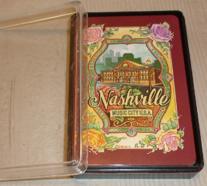1 Deck vintage playing cards souvenir NASHVILLE Music City USA
