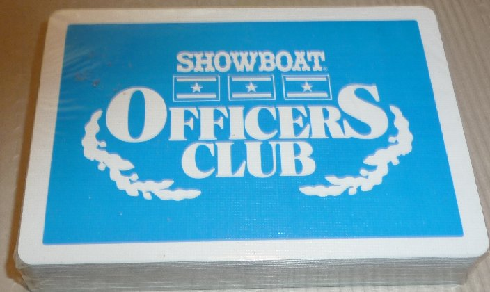 1 Deck vintage playing cards SHOWBOAT Casino OFFICERS CLUB MIP