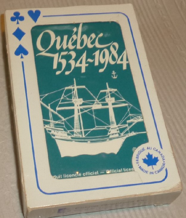 1 Deck vintage playing cards souvenir QUEBEC 1534-1984 CANADA