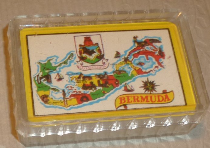 "1 Deck vintage MINI 1.5""x2.25"" Souvenir playing cards BERMUDA"