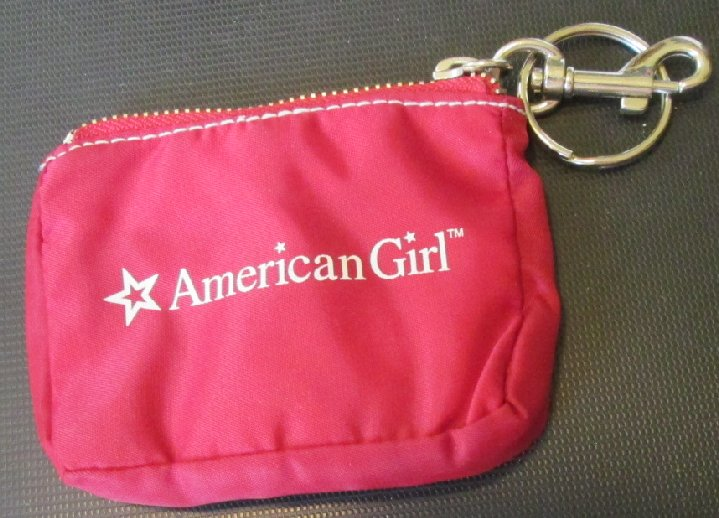 "AMERICAN GIRL mini purse keyring key chain clip-on 3.5""x4.5"""