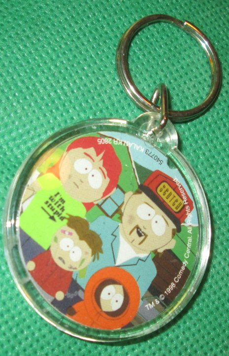 SOUTH PARK Kenny & family plastic keyring key chain 2""