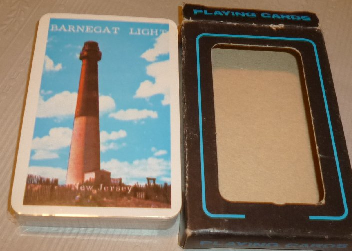 1 Deck BARNEGAT LIGHT lighthouse NJ souvenir playing cards MIP