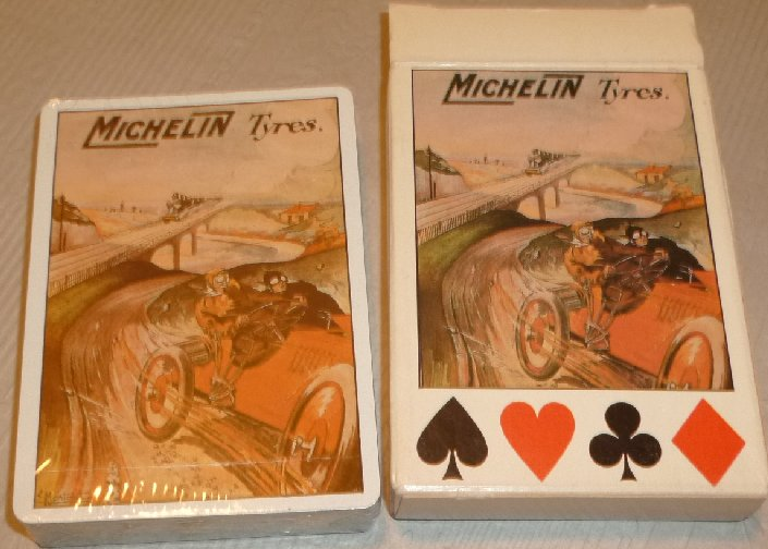 1 Deck MICHELIN TYRES Tires playing cards MIP