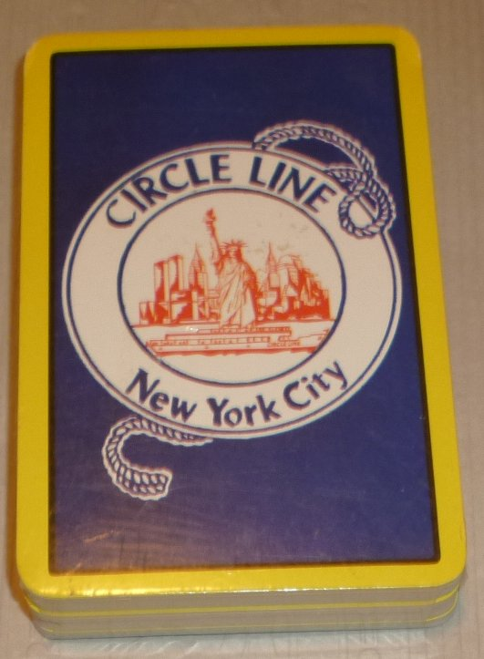 1 Deck CIRCLE LINE Boat Tour NEW YORK CITY souvenir playing card
