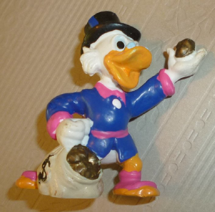 DONALD DUCK relative PVC Figure SCROOGE McDuck with money bag