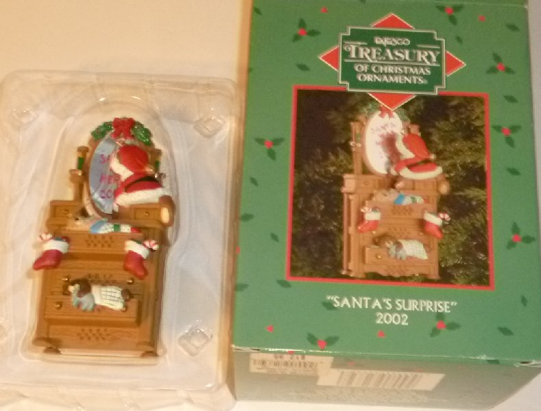 2002 SANTA'S SURPRISE Ornament Enesco in Box