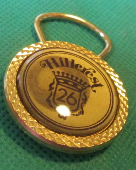 "HILLCREST 26 metal keyring key chain 1.5"" - Click Image to Close"