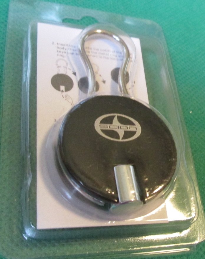 "SCION Aluminum Key-Holder keyring key chain 1.5"" Mint in Package"