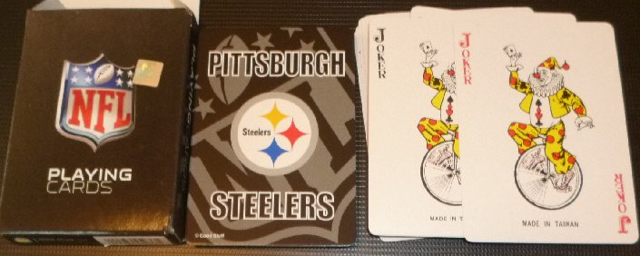 PITTSBURGH STEELERS football NFL team playing cards