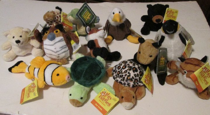WILD REPUBLIC Plush lot 13 ITSY BITSIES w/hang tags BEAR OWL +