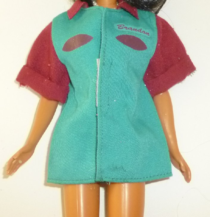 BARBIE Doll Clothing Bowling Shirt, no tag