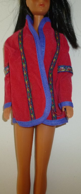 BARBIE Doll Fashion Clothing red with decorative trim Jacket