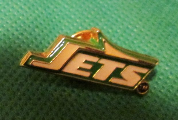 NFL New York NY JETS football pinback lapel PIN 1.25""