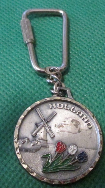 HOLLAND souvenir metal keyring key chain 1.5""
