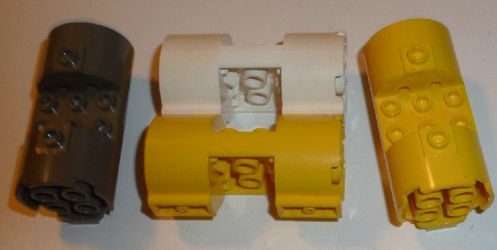 LEGO Parts Lot of 4 Cylinder 3 x 6 x 2 2/3 Horizontal - Click Image to Close