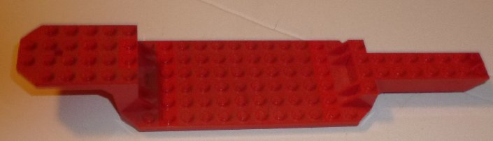 LEGO part red Tracker Trailer truck base plate