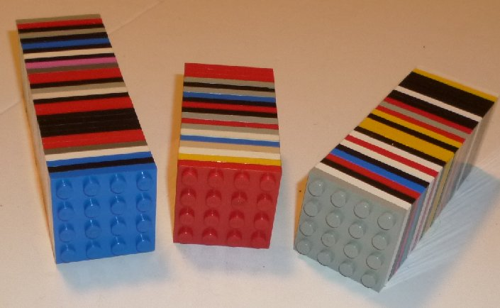 LEGO Parts Lot of 75 plate 4 x 4, mixed colors