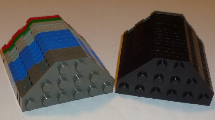 LEGO Parts lot of 29 Plate 3x6 without Corners, mixed colors