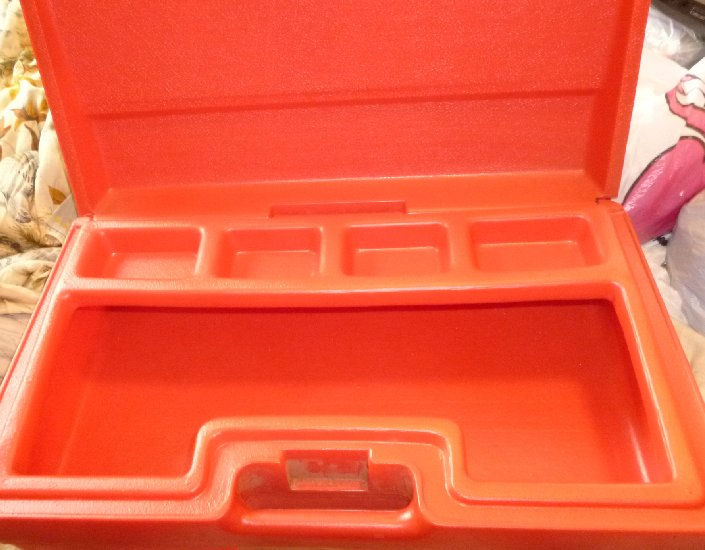 Vintage LEGO Red Briefcase Storage Box Carrying Case   Click Image To Close.