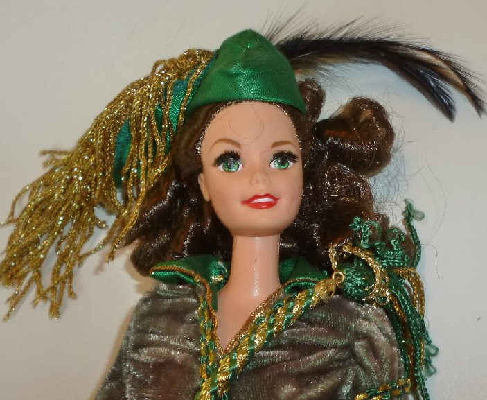 1994 Gone with the Wind BARBIE Doll Scarlett O'Hara green gown