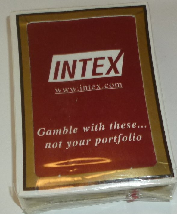 Deck playing cards INTEX, MIP