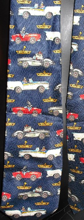 WB Looney Tunes gang driving cars sik Neck TIE Necktie