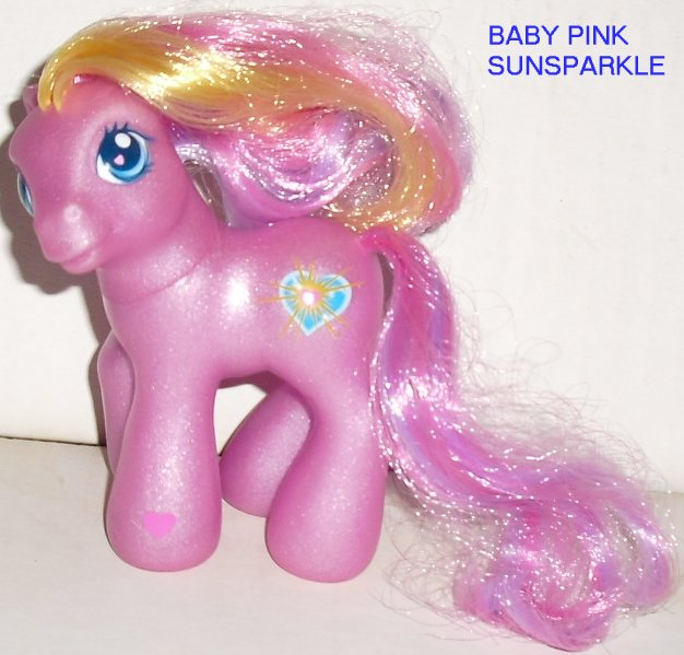 G3 Hasbro My Little Pony MLP BABY PINK SUNSPARKLE