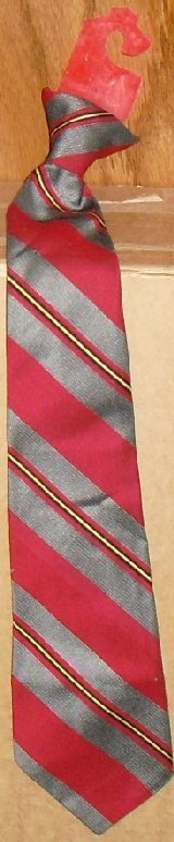 Vtg SNAPPER snap-on stripe Necktie Tie has original tag