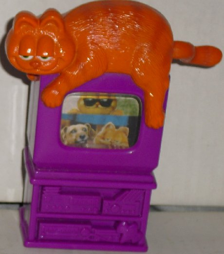 "GARFIELD the Movie on TV viewer toy 4.5"" Wendy's"