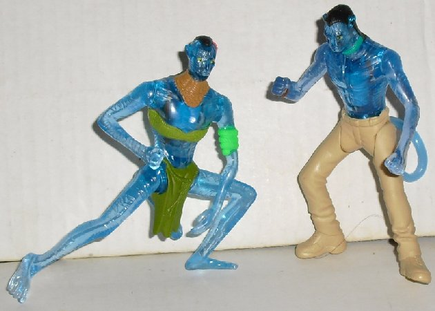McDonalds McD lot of 2 AVATAR light-up figure Toys